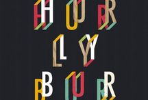 TYPOGRAHY / Full alphabets, perfect solo words, stylish drop caps. A collection of inspiring digital and hand-drawn type, that needed a second look, because they were oh-so cleverly done.