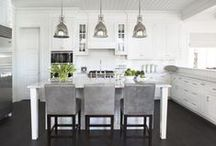 Kitchen Inspiration / The heart of the home. Inspiration for kitchen organizations, art work, and fixtures.