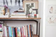 Bookshelves & Built-ins / Beautiful, functional storage and a well styled shelf.
