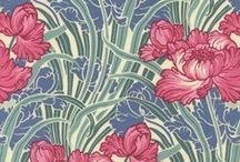 Art Nouveau by REVIVE - William Morris Inspired / William Morris defined the decorative style of the Art Nouveau Movement in Britain. As he revived the art of textiles, Morris emphasized the concept of design and production being cohesive. He basked in designs, patterns, colours and textures, and he applied them to books, rugs, embroidery, wallpaper, stained glass, tapestries, curtains and furniture. / by Timeless Treasures Fabrics