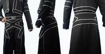 Sword Art Online Kirito costumes / Sword Art Online Kirito cosplay costume. knight armor jacket. Designed by Oasis Costume