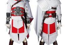 Assassin's Creed brotherhood costumes / assassin's creed brotherhood ezio cosplay costume, assassin's creed doctor coslay costume, assassin's creed harlequin cosplay costume,assassin's creed courtesan cosplay costume,assassin's creed prowler hunter cosplay costume