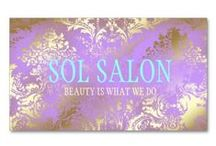 Beauty Industry Interiors & Business Cards {Makeup, Cosmetic etc.} / Add that touch of elegance to your business whether it be interior design or spa ...  / by Jill Leonard McAmis