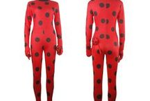 Miraculous Ladybug costumes / Miraculous Ladybug Marinette Ladybug, Adrien Cat Noir cosplay costumeJumpsuit
