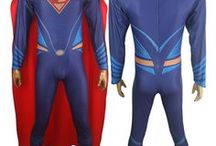Batman v Superman Dawn of Justice costumes / DC Comics Superhero Batman v Superman Dawn of Justice Superman cosplay costume Jumpsuit