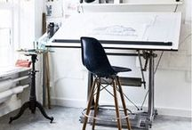 #12 Artists' Studios / about: atelier / studio / art / artists at work / my dream studio / industrial vintage style