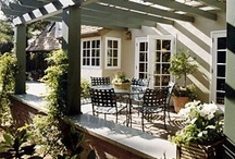 GARDEN | Porches, Pots, and Patios / Inspiration and tips on making my front porch and back patio look amazing at my urban cottage | porch ideas | porch decor | patio ideas | patio decor | outdoor fireplaces | pergolas | outdoor lights | solar lights