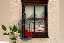 Grand Madison Window die / So many wonderful and creative ways to use this window die.  Shutter windows, picket fence and planter box are also available.  Very cute.
