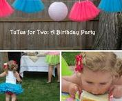 ENTERTAINING - A Tutu Themed Little Girls Second Birthday / Tutus for Two -- decorating and entertaining ideas for a tutu themed second birthday