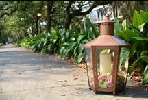 Bevolo | Pool House Lanterns / Bevolo Pool House Lanterns can be used to fill the night with a soft, romantic glow, or display wine corks, seashells, or flowers. Hand riveted in New Orleans, crafted out of pure American copper