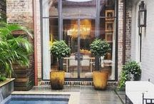 Favorite | French Quarter Courtyards / The secret spaces behind wrought iron gates and brick walls. Expect sugar kettle fountains, weathered furniture and exterior lights, of course.
