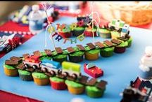 ENTERTAINING - Chuga Chuga Two Two / A Train-Themed Birthday Cake and Party Ideas for a Two Year Old