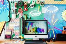 Workspaces / Collaborations welcome! REAL workspaces of creative people, freelancers, small business. More than just a desk. Your HQ! / by Claire Creative
