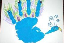 Hand,Foot & Finger Print Crafts