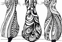 Sketches, Paintings, Doodles, Zentangles