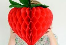Strawberry Party Ideas / A collection of DIY strawberry party ideas to celebrate your little strawberry shortcake!