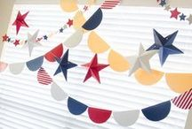 4th of July Party Ideas / 4th of July Party Ideas for crafting, baking and DIYing.