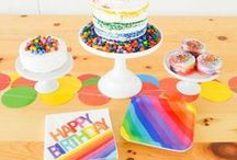 DIY Rainbow Party Ideas / A collection of DIY Rainbow Party Ideas by Lindi Haws of Love The Day.