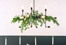 Festooned Chandeliers / One way to bring holiday fun into your home involves the chandelier you already have, plus some creativity. Festoon it with ribbon, ornaments, greenery--the only limit is your imagination. Here are some ideas.