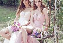 CHIFFON BRIDESMAIDS / Soft and Romantic Chiffon Bridesmaids Collection with Sweetheart Necklines