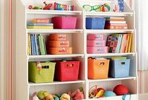 Playroom Fun / Playroom ideas full of color and life.  And great organizing ideas to keep your kids things neat.