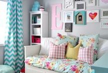 Girls' Bedroom Decor / Style and decorating ideas for a girl's bedroom