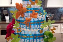 Cute & Crafty Baby / Diaper Cakes, Diaper Wreaths, Baby Shower Decor & more...
