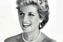 Princess Diana / My first 'celebrity' obsession. I loved Princess Diana, even styling my hair after hers as a young girl. She will be forever young and beautiful.