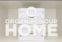 Organization Tips / Different ways to help organize your home.