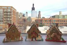 Holiday Gingerbread Houses / A fun and holiday themed Team Home Building Exercise