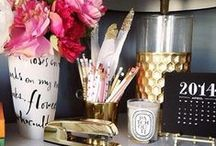 Office Glam / Office / Home / Decor / Office Decor / Work / Workspace / Design / Office Accessories