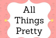 *All Things Pretty* (group board) / This board is all things pretty! Please pin only your prettiest pins. Affliliate links are allowed but VERTICAL PINS ONLY. No nudity or anything obscene. Please help each other and share at least one pin for everyone you add. To be invited, please follow all my boards, then message me or send me your email. Please share with all of your friends. Happy pinning:)
