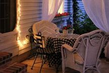 I love to sit on the porch...