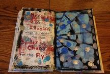 My Altered Books / These are the books that I have altered with journaling and art.