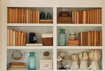 BOOKSHELVES MANTELS GROUPINGS  / Shelves for display / Design Vignettes / by Jill MacTaggart