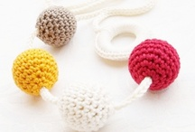 Teething necklaces / Horgooka creative teething necklace  - This teething necklace is perfect toy for playing and while feeding your baby. Made with natural wooden beads and crocheted with 100% cotton yarn. It's a good baby shower gift, perfect for baby-wearing mamas, improves you baby's motor skills, safe for your baby to chew. Washable (hand wash with mild soap). Although this necklace is made to be very safe for children, don't leave the baby to play alone with it! horgooka.etsy.com,  hello@horgooka.com