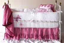 Nursery Bedding / Find inspiration for your own nursery bedding with tons of color and design ideas in luxurious textiles