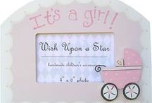 Kids Rooms Decor / Baby nursery decor and kids' decor including personalized wall art, stretched canvases, wall letters and more.