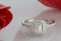 Halo Rings / Trendy halo engagement rings for the fashion-forward woman.