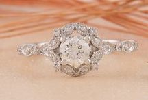 Vintage-Inspired Rings / Romantic engagement rings featuring vintage-inspired designs.