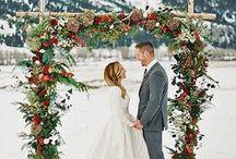 Winter Wedding Inspiration / Beautiful ideas for winter weddings.