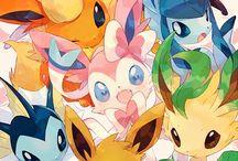 Eeveelutions / Eevee Pokemon and his evolutions.