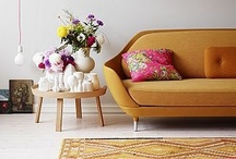 In the Living Room  / We love a good living room, especially one filled with lots of cushions and rugs.....