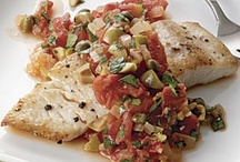 {Seafood} Fish / Recipes with fish as the primary protein (tuna, salmon, tilapia, cod, haddock, pollack, etc.). See also: Seafood, Shellfish, Recipes, Soups, and Sandwiches / by Mary Eichman