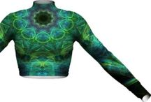 %__Long Sleeve Mock Crops__% / Body is 100% cotton. Dry clean only. Every piece is custom made. May take 2-4 weeks for delivery.