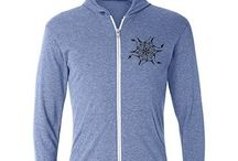 """%__Triblend Zip Hoodies__% / Cover up in Canvas brand style with this lightweight triblend full-zip hooded """"t-shirt."""" Via CustomizedGirl.com"""