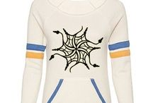 %__Sport Eco-Fleece Wideneck Sweatshirts__% / Alternative Apparel's bold arm stripes, pocket accents and raw-edge wide neckline speak volumes of a fashionably sporty lifestyle. Via CustomizedGirl.com