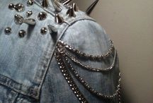 Embellishments / Hot ways to spice up outfits - usually to go a bit punk.