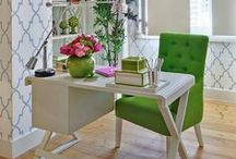 s t y l e: home office / Office home / by z f l i c k a's  Style Blog