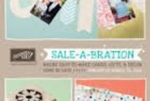 SU ~ 2014 Sale-a-bration & Spring 2014 / A show case of 2014 Sale-a-bration & Spring fr Stampin' Up / by Rebecca I-f